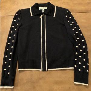 St. John Marie Gray Sweater Polka Dot Sz. 2.